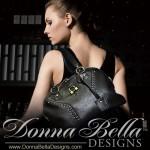 Donna Bella Ad - Black Leather Handbag