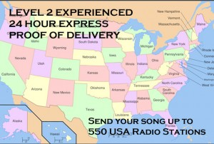 Send Your Song to Up to 550 US radio stations